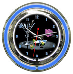 Michael Godard Michael Godard Pocket Rockets- Neon Clock (Large)