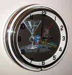 Michael Godard Art & Prints Michael Godard Art & Prints Neon Clock - Pool Shark