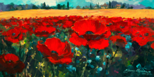 James Coleman Prints James Coleman Prints Poppies in a Summer Breeze (SN)
