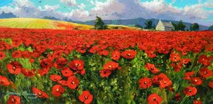 Artist James Coleman Artist James Coleman Poppies in Provence (unframed)