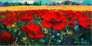 James Coleman James Coleman Poppies in the Summer Breeze