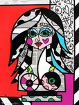 Romero Britto Art Romero Britto Art Red and Pink (SN)