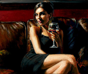 Fabian Perez Fabian Perez Red on Red II