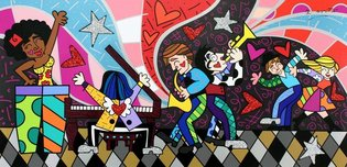 Romero Britto Art Romero Britto Art All That Jazz (SN)