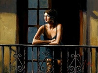 Fabian Perez Fabian Perez Saba at the Balcony VI