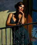 Fabian Perez Fabian Perez Saba at the Balcony XIV