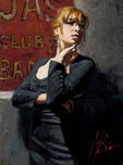 Fabian Perez Fabian Perez Sandra at the Red Sign