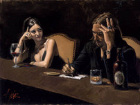 Fabian Perez Fabian Perez Self Portrait with Monica