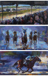 Michael Flohr Art Michael Flohr Art Set of Three; Churchill Downs, Win at the Preakness, Win at Belmont