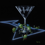 Godard Martini Art Godard Martini Art Dirty Martini 4 (Silly Wabbit)