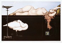 Michael Parkes Art Michael Parkes Art Sleeping Swan