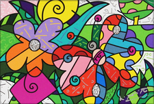 Romero Britto Art Romero Britto Art Spring Blooms (SN)
