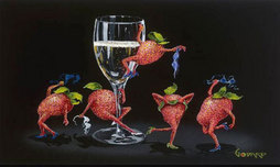 Michael Godard Art & Prints Michael Godard Art & Prints Strawberries Gone Wild (17.5 x 22)