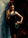 Fabian Perez Fabian Perez Study for Linda in Red III