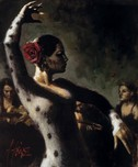 Fabian Perez Fabian Perez Study for Tablao Flamenco III