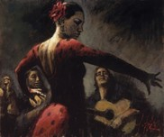 Fabian Perez Fabian Perez Study for Tablao Flamenco II