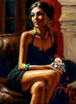 Fabian Perez Fabian Perez Study for Red on Red IV
