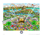 Charles Fazzino Charles Fazzino Summer Olympic Games in Rio 2016 (DX) Framed