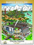 Charles Fazzino Art Charles Fazzino Art Super Bowl 50: San Francisco (Poster) - Signed