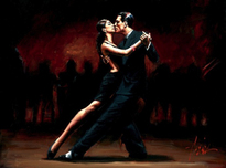 Fabian Perez Fabian Perez Tango in Paris in Black Suit