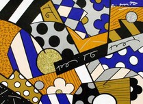 Romero Britto Art Romero Britto Art The Blues