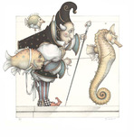 Michael Parkes Art Michael Parkes Art The Seahorse Collector - Framed
