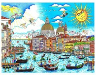 Charles Fazzino Art Charles Fazzino Art The Sun Rises Over Venice (DX)