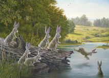 Robert Bissell Art Robert Bissell Art The Swimming Hole
