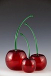Donald Carlson Donald Carlson Transparent Red Cherries - Green Stem
