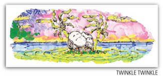 Tom Everhart prints Tom Everhart prints Motu Homies: Twinkle Twinkle (Framed)