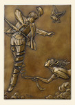 Michael Parkes Art Michael Parkes Art Unwinding (bas-relief Gold or Silver)