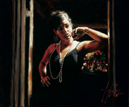 Fabian Perez Fabian Perez Waiting for Customers II