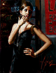 Fabian Perez Fabian Perez Waiting for Customers III