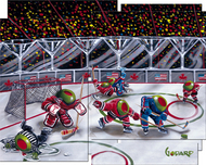 Michael Godard Art & Prints Michael Godard Art & Prints We Olive Hockey (Mosaic Mural)