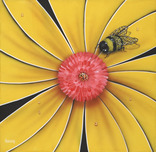 Michael Godard Art & Prints Michael Godard Art & Prints Yellow Bumble Bee (18 x 18)