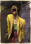 Kruger Fine Art Kruger Fine Art Yellow Jacket - Mick Jagger (Original Painting)