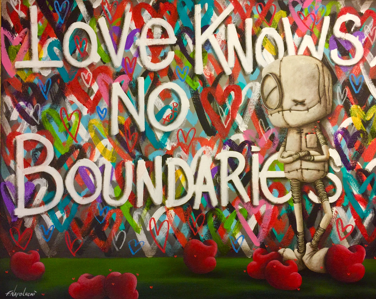 Fabio Napoleoni Love Knows No Boundaries (Original) - Gallery Wrapped