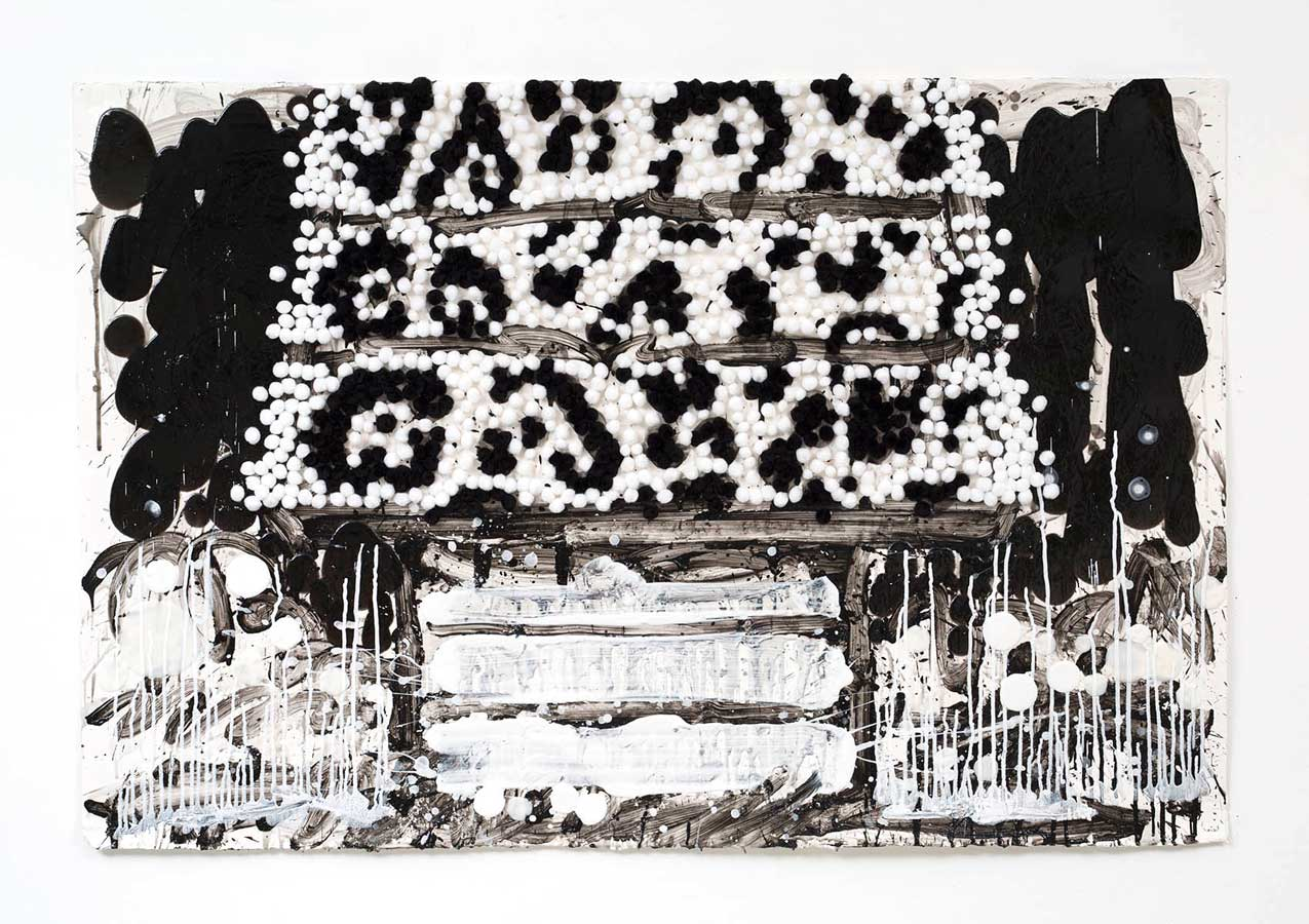 Tom Everhart Raise the Roof - Snow Faux Leopard (Original) (Framed)