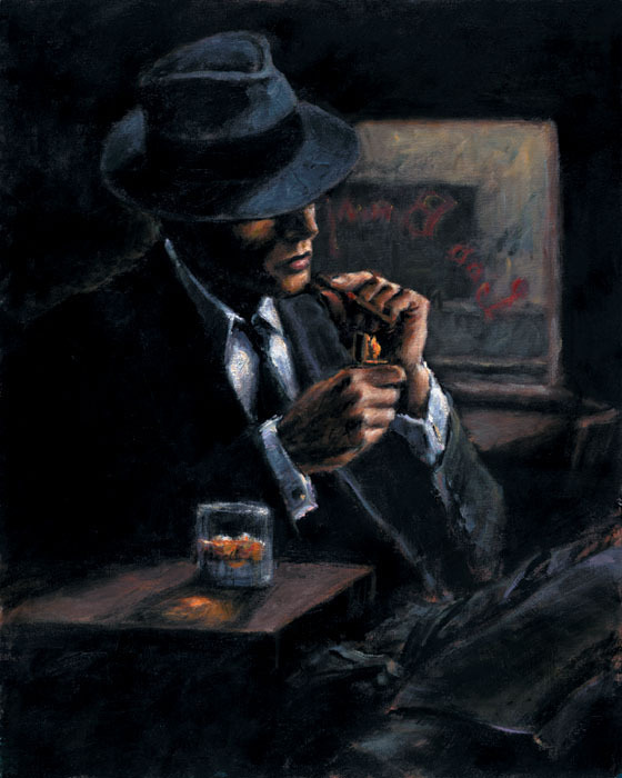 Fabian Perez Study for Whiskey at Las Brujas II