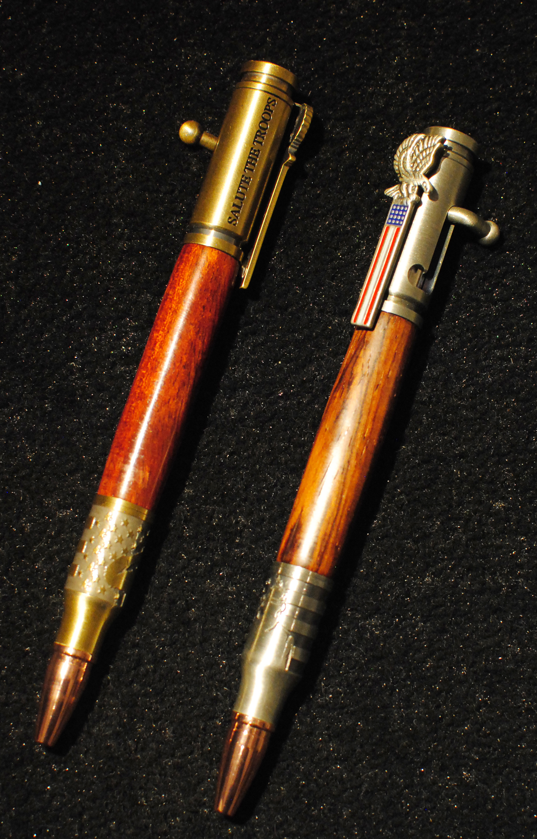 Allywood Creations Salute the Troops Pen - Wood