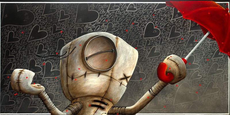 Fabio Napoleoni Shower Me with Love and Kisses (SN) Canvas