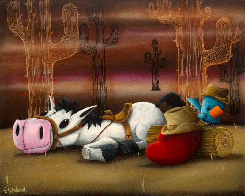 Fabio Napoleoni Sweet Little Cowboy Dreamer (PP #1) Canvas