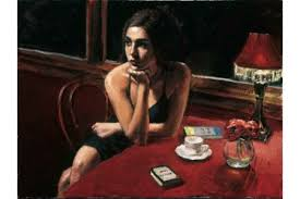 Fabian Perez Tiffany with Tea