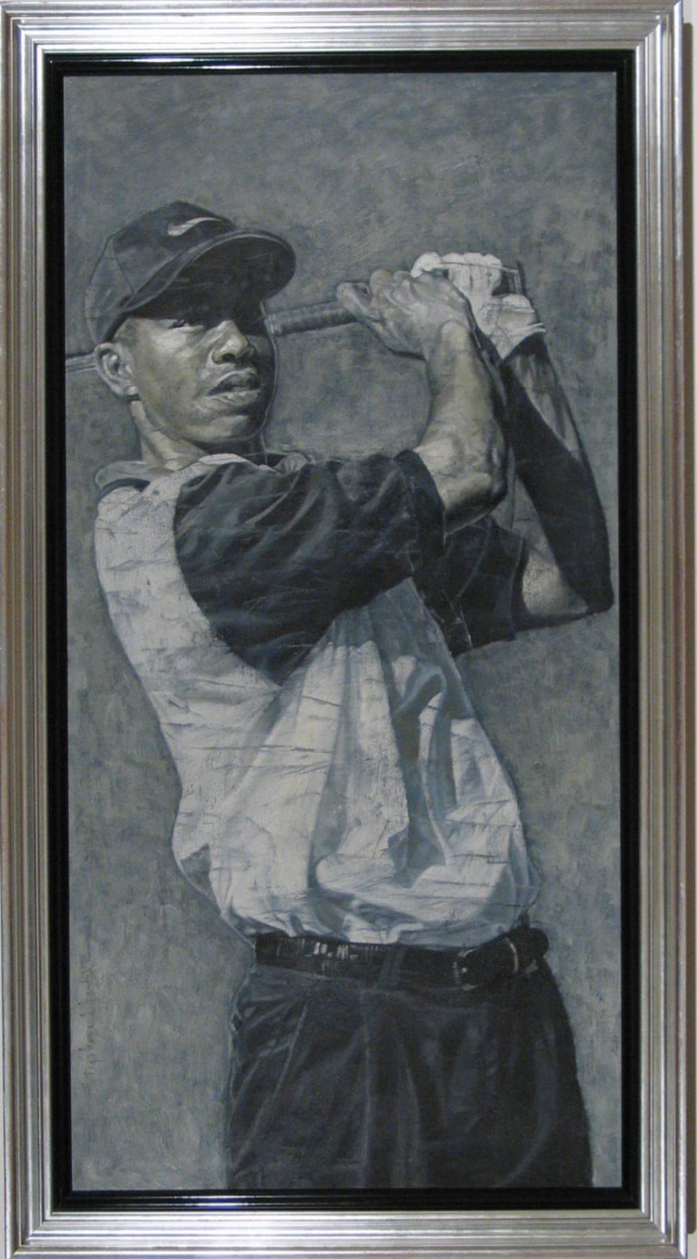Stephen Holland Tiger Woods (Framed)