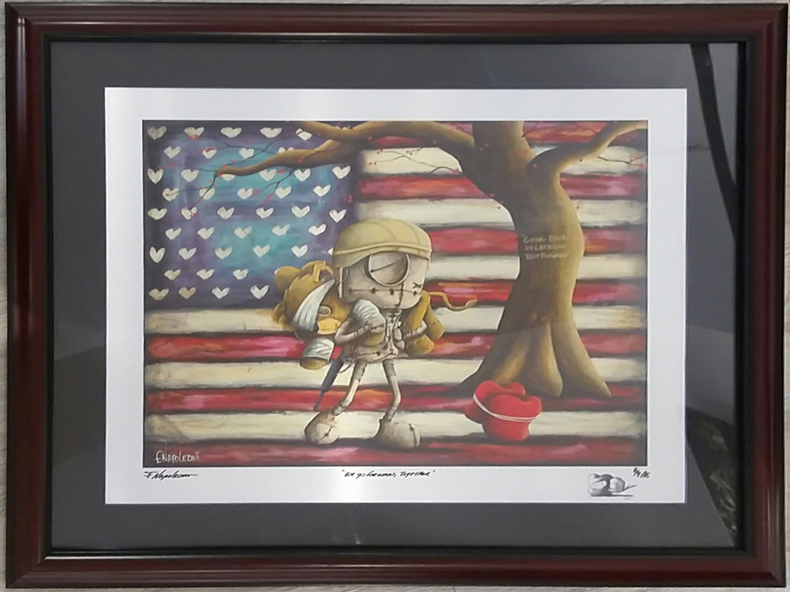 Fabio Napoleoni We Go Forward Together (AE) Aluminum (Framed)