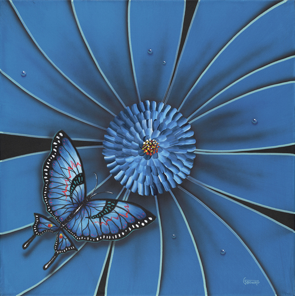 Michael Godard Blue Butterfly (SN)