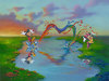 Jim Warren Fine Art Limited Edition Giclee on Canvas A Message to Minnie