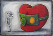 Fabio Napoleoni Mixed Media on Paper Better Days Ahead (AP) Framed