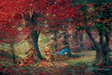 James Coleman Limited Edition Giclee on Canvas Adventure in the Woods