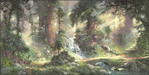 James Coleman Limited Edition Giclee on Canvas Alone in the Woods (15 x 30)